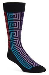 Men's Hot Sox 'Optical Box' Socks Black