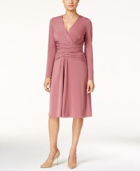 Thalia Sodi Ruched Faux Wrap Dress Only At Macy's Medieval Rose