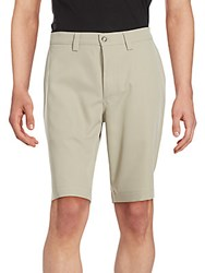 Saks Fifth Avenue Herringbone Zipped Shorts Stone