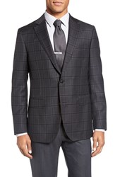 Pal Zileri Men's Classic Fit Plaid Wool Sport Coat