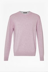 French Connection Julep Printed Crew Neck Jumper Ascot Pink
