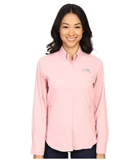 Columbia Tamiami Ii L S Shirt Rosewater Women's Long Sleeve Button Up Pink