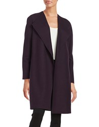 Elie Tahari Open Walker Coat Aubergine