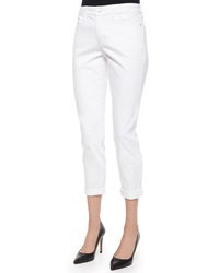 Nydj Nichelle Ankle Cuffed Jeans White