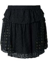 Iro Layered Patchwork Skirt Black