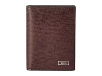 Tumi Monaco Gusseted Card Case With Id Merlot Credit Card Wallet