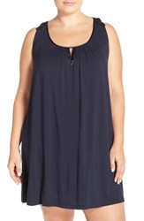 Plus Size Women's Midnight By Carole Hochman 'Core' Short Nightgown