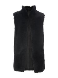 Whistles Sheepskin Reversible Gilet Black