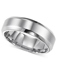Triton Men's Stainless Steel Ring Smooth Comfort Fit Wedding Band