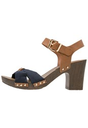 Tom Tailor Platform Sandals Navy Dark Blue