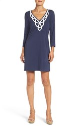 Lilly Pulitzerr Women's Pulitzer 'Blaire' Cotton Shift Dress True Navy