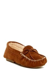 Bearpaw Ashlynn Wool And Genuine Sheepskin Lined Moccasin Brown