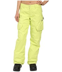 Dc Ace J Snow Pants Sunny Lime Women's Casual Pants Green
