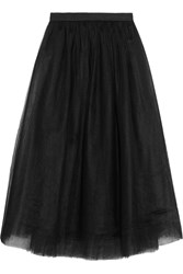 Elizabeth And James Everleigh Tulle Midi Skirt Black