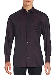 Dolce And Gabbana Pintuck Pleated Shirt Purple