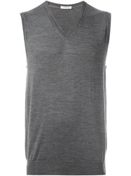 Paolo Pecora V Neck Tank Top Grey