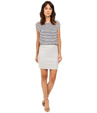 Splendid Venice Stripe Dress Navy Heather Grey Women's Dress