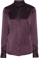 Just Cavalli Silk Satin Shirt Purple