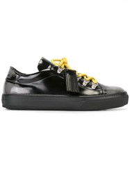 Tod's Varnished Lace Up Sneakers Black