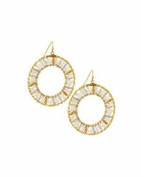 Nakamol Beaded Circle Drop Earrings No Color