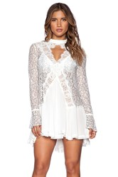Free People Tell Tale Lace Tunic Ivory