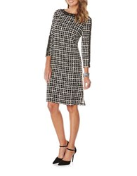 Rafaella Checked Shift Dress Black