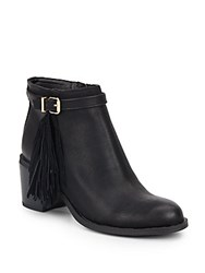 Sam Edelman Jolie Leather Fringe Booties Black