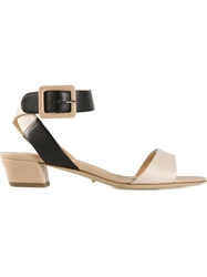 Sergio Rossi Ankle Strap Sandals Nude And Neutrals