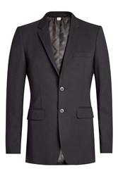 Burberry London Tailored Wool Blazer Black