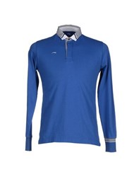 Etiqueta Negra Topwear Polo Shirts Men Bright Blue