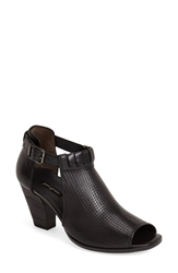 Paul Green 'Colleen' Perforated Leather Sandal Women Black Leather