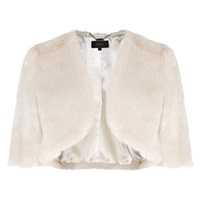 Coast Faux Fur Cover Up Ivory