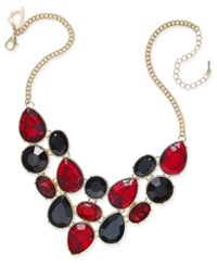 Thalia Sodi Gold Tone Lace Stone Bib Necklace Only At Macy's