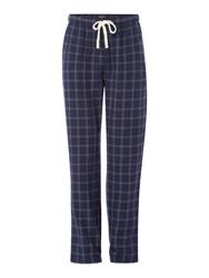 Howick Window Check Flannel Print Pyjama Pant Navy