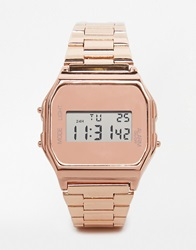 New Look Nude And Rose Gold Digital Watch Pink
