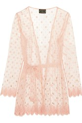 Agent Provocateur Soiree Lyalya Embellished Lace Robe Pink