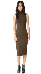 Public School Rib Tape Dress Army Green