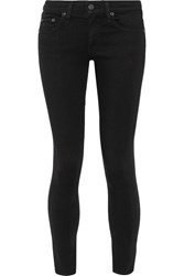 Rag And Bone Rag And Bone The Capri Cropped Mid Rise Skinny Jeans Black