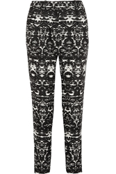 J.Crew Blurred Ikat Printed Satin Twill Tapered Pants
