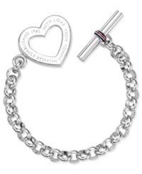 Tommy Hilfiger Stainless Steel Heart Toggle Bracelet
