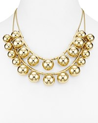Kate Spade New York Two Strand Convertible Bubble Bead Necklace 20 Gold