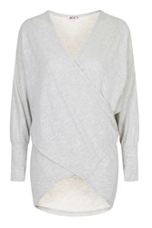 Wal G Slouchy Crossover Wrap Top By Grey