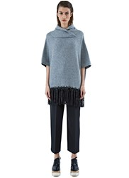 Agnona Poncho Knit Sweater Grey
