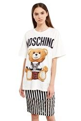 Moschino Oversized Bear Logo Tee White