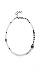 One By Bettina Duncan Crystal Bead Necklace White