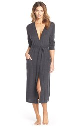 Nordstrom Lingerie Nordstrom Cashmere Robe Grey Granite Heather