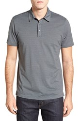 Men's Robert Barakett 'Russel' Stripe Pima Cotton Polo