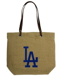 Little Earth Los Angeles Dodgers Burlap Tote Brown