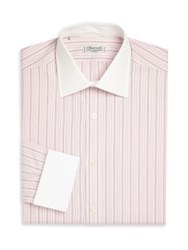 Charvet Regular Fit Striped Dress Shirt Pink