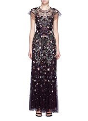 Needle And Thread 'Enchanted Lace' Floral Embellished Tulle Maxi Dress Multi Colour